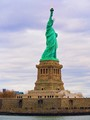 An American icon, the Statue of Liberty in New York Harbor.