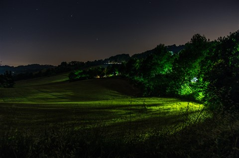 Italy Marche Landside at night