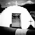 Old Church Courtyard at Taos Pueblo