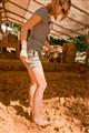 Jenny in mud