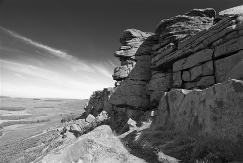 The face of Stanage Edge