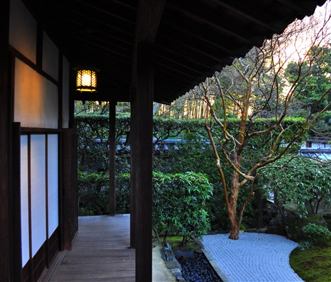 Peaceful morning, Myoshin-ji guest house