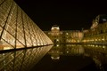 Louvre At Night with Reflection in man-made pool