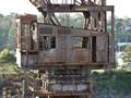 cab of abandoned crane, Cockatoo Island, Sydney