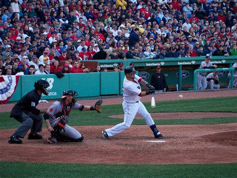 Mike Napoli at bat
