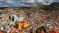 Guanajuato, Mexico is a 16th century Spanish colonial silver and gold mining town that is also now a UNESCO World Heritage site.  The photo was taken from a monument on a ridge 250 feet above the city.