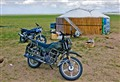 Solar panels and motorbikes in Inner Mongolia