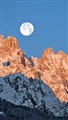 moonset on Popera group