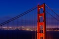 San Francisco Skyline Through the Golden Gate Bridge