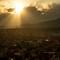 The sunset valley- Kathmandu: Kathmandu Valley during Sunset.
