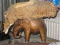 Elephant stool before refurbishment
