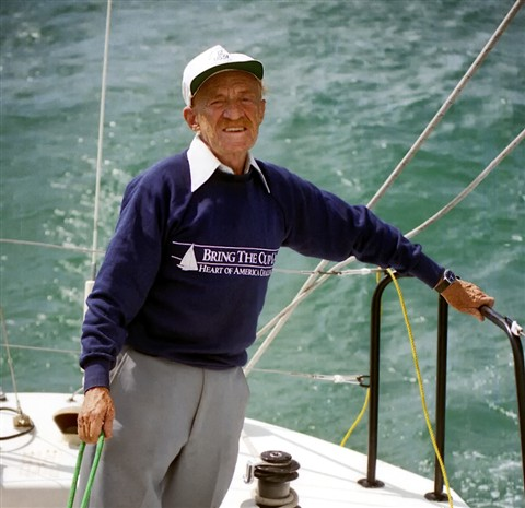 Al Barclay of Columbia Yacht Club, Chicago, in 1987