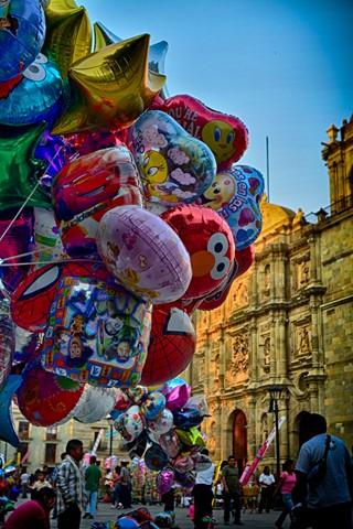 The plaza of Oaxaca
