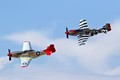 Pair of P-51 Mustangs