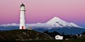 Cape Egmont Lighthouse and Mt Taranaki North Island NZ