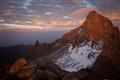 Pass to Batian from Lenana, Mount Kenya