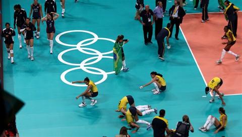 London 2012 women's volleyball final USA - Brazil