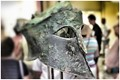 Ancient Olympia Museum, Greece - Bronze Helmet of Miltiades_