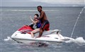 First time to ride a jet ski