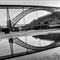 Porto Reflections D. Luiz I B&W 1600x1200-4