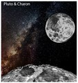 Charon and the Milky Way from the surface of Pluto