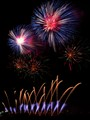 burning sky, fireworks
