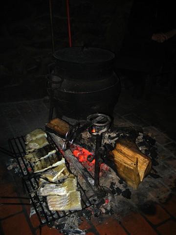 cod on coals