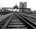 Abandoned Rail Line to Empty Elevators