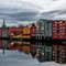 Historic Timber Houses in Trondheim, Norway