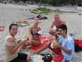 The taste of gyros on a greek beach