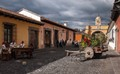 Musicians and Flower Cart in Antigua, Guatemala