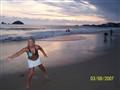 Oceanside frisbee at sunset in Ixtapa :)