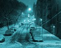 New York City, North Harlem on Riverside Drive in 2012. Late evening after the storm