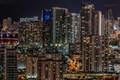 Beautiful clear night in Miami.