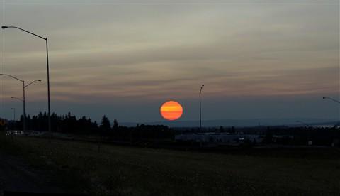 SunsetPanoramaAug10thForestFireSmokeSky_I84Freeway181stAveExit_CenterCloseUpCrop_5000Pxl_DSC09677_Pano-stitch