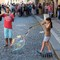 Playing with bubbles -Praha