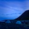 Big Dipper Above Tents On The Lost Coast