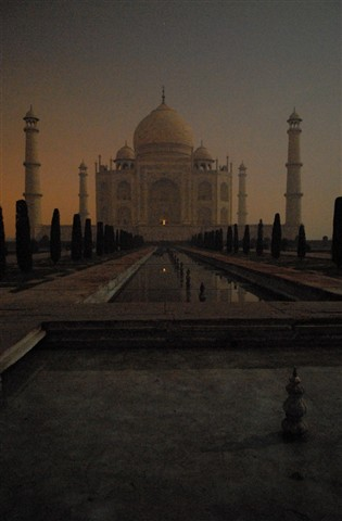 Taj Mahal at night