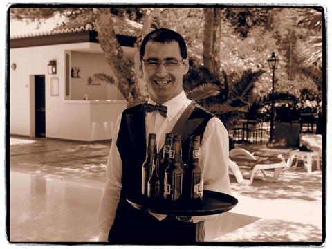 Waiter at Pool