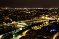 Paris by night - View to the Saine River