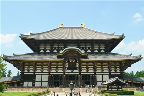 Japenese big temple at Nara