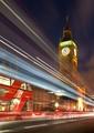 Big Ben with Light Trails