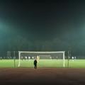 Soccer in floodlight