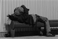 homeless nap b&w