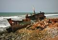 cargo wreckage in Ghana
