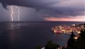 LIghtning storm over Dubrovnik