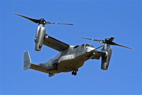 Bell Boeing MV-22B Osprey of VMX-22 Marine Tiltrotor Operational Test and Evaluation Squadron