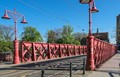 The Red Sand Bridge in Wroclaw, Poland