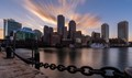 This was a long exposure of Boston from Fan Pier around gold hour.  I liked the backlighting of the skyline that I got from the sun.