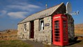 Former post office in the village of Stockinish, Isle of Harris, Scotland.